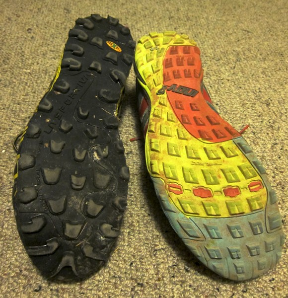 La Sportiva Anakonda and Inov-8 Trailroc 235 - Outsoles