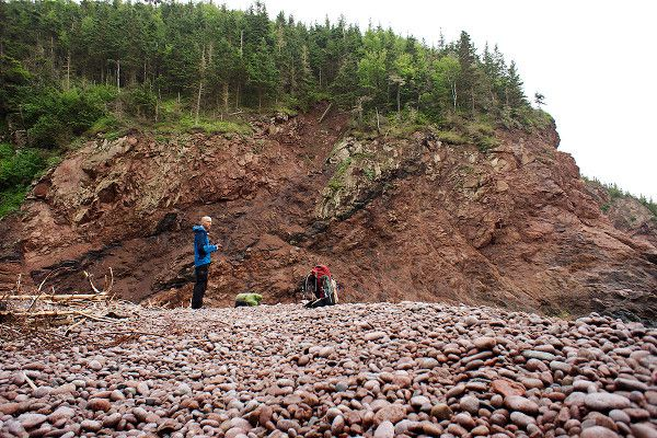 Standing on the beach - Cape Chignecto National Park