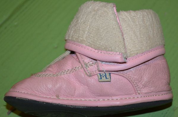 Jack and Lily - Pink Lace Boots Folded