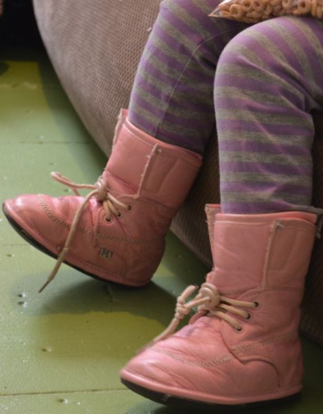 Jack and Lily - Pink Lace Boots